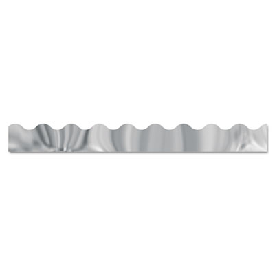 "Terrific trimmers metallic borders, silver, 12 strips, 2 1/4"" x 39"" each, sold as 1 package"