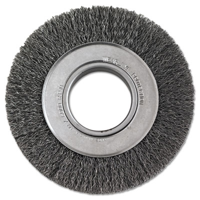 "Crimped-wire wheel, 6"""" dia, 1 1/8"""" trim, .0118 wire, 2"""" arbor, sold as 1 each"