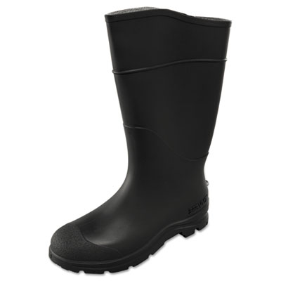 Ct economy knee boots, size 9, 15in tall, black, pvc, sold as 1 pair, 2 per pair