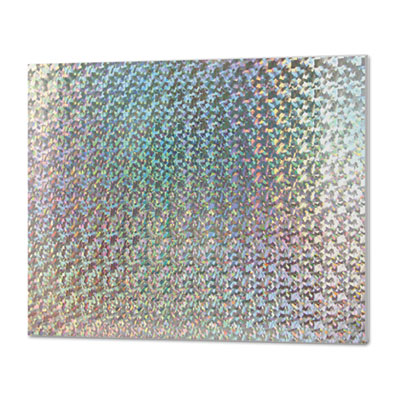 Foam board, 30 x 20, holographic silver, 1/ea, sold as 1 each
