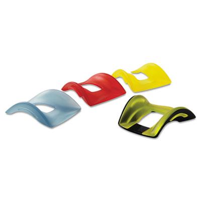 Smartfit wrist rest, interchangeable colored inserts, black pad/cover, set, sold as 1 set