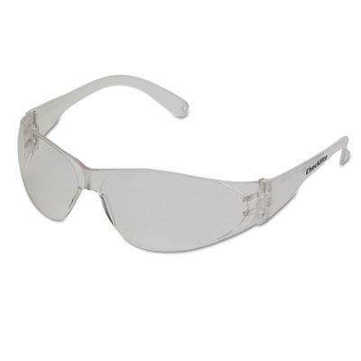 Checklite safety glasses, clear frame, anti-fog lens, sold as 1 each