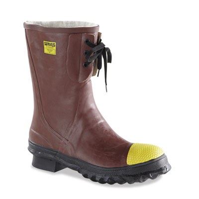 Insulated steel toe boots, poly rubber, size 12, sold as 1 pair, 2 per pair