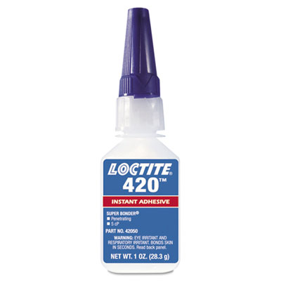 420 super bonder instant adhesive, cyanoacrylate, wicking, sold as 1 each