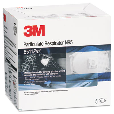 8511pro n95 particulate respirator, sold as 5 each