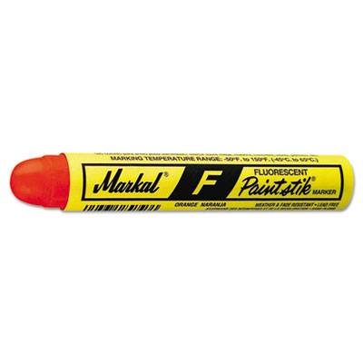 Paintstik f marker, fluorescent orange, sold as 1 dozen