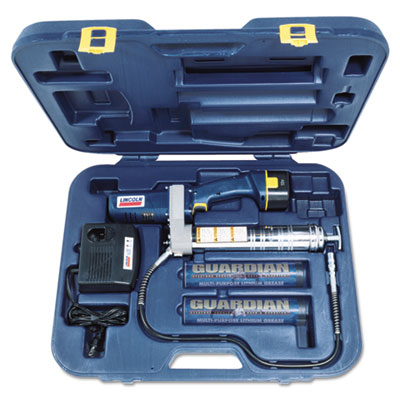 Powerluber grease gun, with case, sold as 1 kit