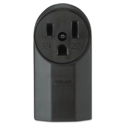 1252 receptacle, black, sold as 1 each