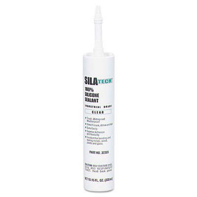Silatech clear rtv silicone adhesive sealant, clear, 10.15oz, sold as 1 each