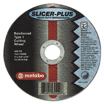 "Slicer-plus high-performance cutting wheel, 4-1/2"""" x .045 x 7/8"""", type 1, a60tx, sold as 1 each"