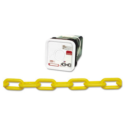Plastic chain, #8, 138ft, yellow, square pail, sold as 1 each