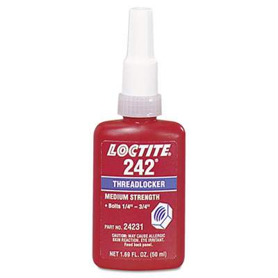 242 medium-strength threadlocker, 50 ml, blue, sold as 1 each