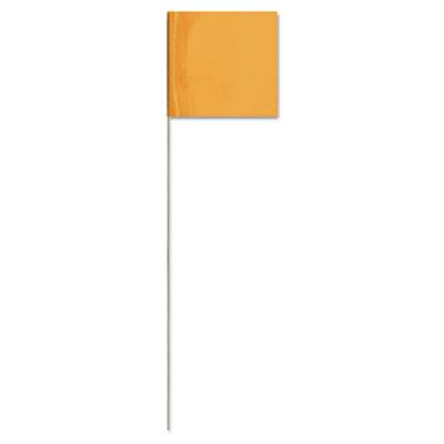 "Stake flags, 2.5 x 3.5-21"""", orangeglo, sold as 100 each"