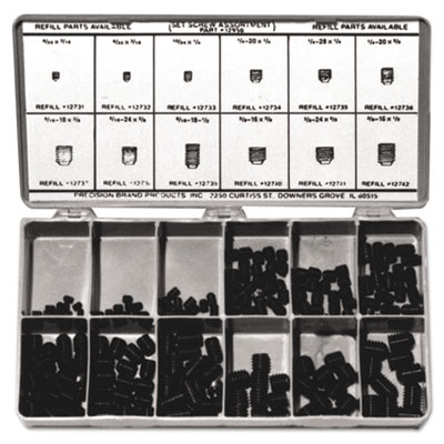 Socket head set screw assortment, sold as 1 kit