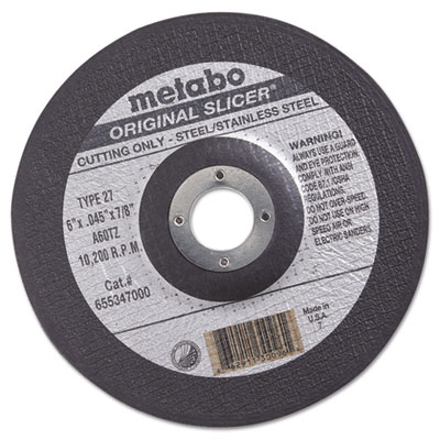 "Original slicer cutting wheel, 6"""" x .045 x 7/8"""", type 27, a60tz, sold as 1 each"