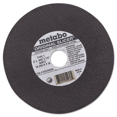 "Original slicer cutting wheel, 6"""" x .04"""" x 7/8"""", type 1, a60tz, sold as 1 each"