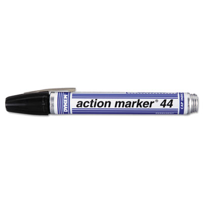 Action marker dye-based permanent marker, bullet tip, black, sold as 1 each