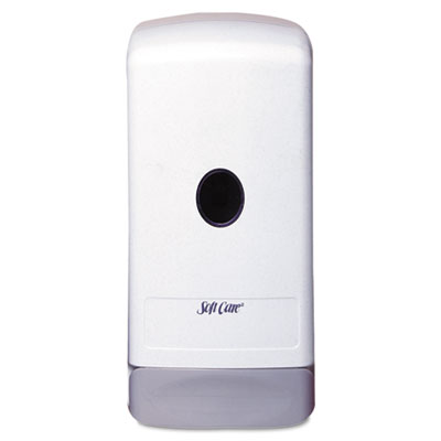 Soft care 1000-ml elite dispenser, white/gray, abs plastic, wall-mount, 12/ct, sold as 1 carton, 12 each per carton