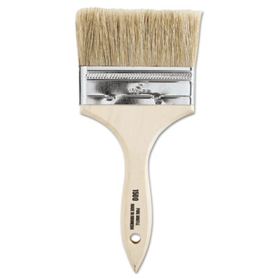 """Chinese bristle-chip brush, 4"""""""", white, sold as 12 each"""
