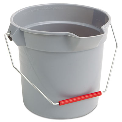 Brute round bucket, 10qt, gray, sold as 1 each