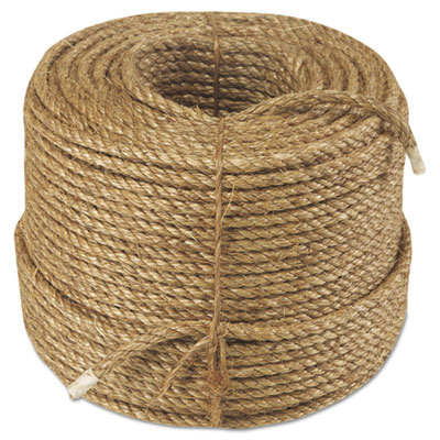 "Manila rope, 3-strand, 3/8"""" x 600ft, 25lb, sold as 1 each"