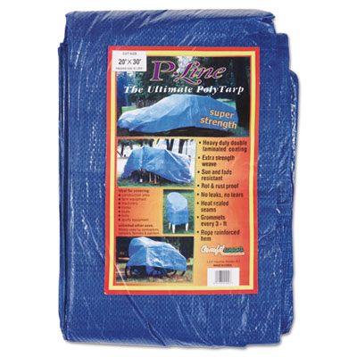 Multiple use tarpaulin, polyethylene, 20 ft x 30 ft, blue, sold as 1 each