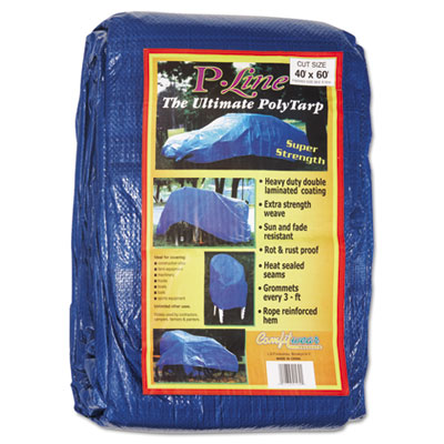 Multiple use tarpaulin, polyethylene, 40 ft x 60 ft, blue, sold as 1 each
