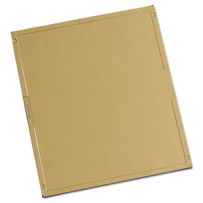 """Gold coated polycarbonate filter plate, 4 1/2"""""""" x 5 1/4"""""""", #12, sold as 1 each"""