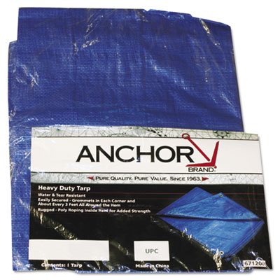 Multiple use tarpaulin, polyethylene, 10 ft x 16 ft, blue, sold as 1 each