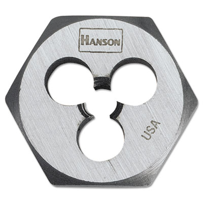 "3/8""""-16 high-carbon steel hex agon die 1"""" diameter, sold as 1 each"