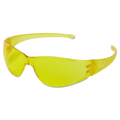 Checkmate safety glasses, amber temple, amber anti-fog lens, sold as 1 each