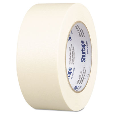 "Utility grade masking tape, 2"" x 60yd, crepe, sold as 1 roll"