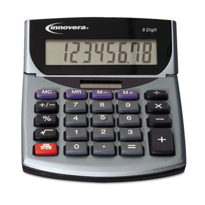 15925 portable minidesk calculator, 8-digit lcd, sold as 1 each