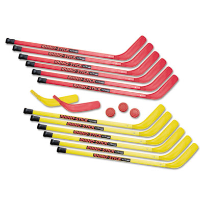 Rhino stick elementary hockey set, 36'', plastic, sold as 1 set, 16 each per set