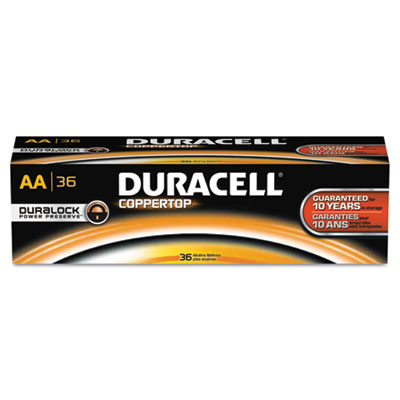 Coppertop alkaline batteries with duralock power preserve technology, aa, 36/pk, sold as 1 package