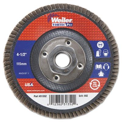 """Vortec pro abrasive flap disc, 4-1/2"""""""" , 80z, 5/8""""""""-11a.h., sold as 1 each"""