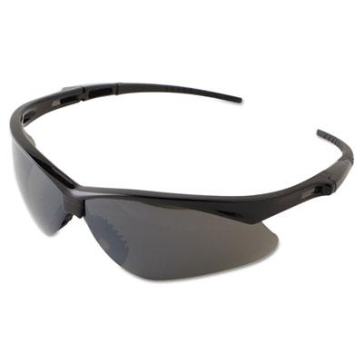 V30 nemesis safety eyewear, black frame, smoke mirror lens, sold as 12 each