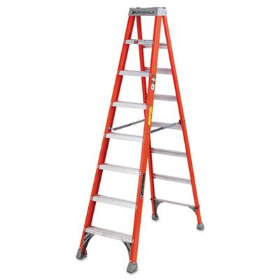 Fs1500 series fiberglass step ladder, 8ft, sold as 1 each
