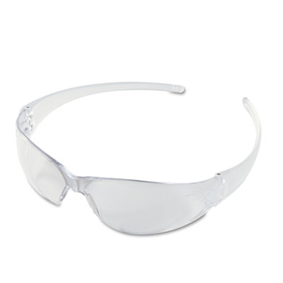 Checkmate wraparound safety glasses, clr polycarbonate frame, coated clear lens, sold as 1 box, 12 each per box
