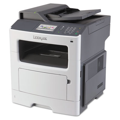 Mx410de multifunction laser printer, copy/fax/print/scan, sold as 1 each
