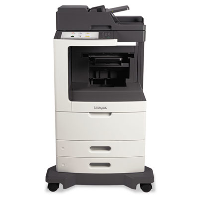 Mx810de multifunction laser printer, copy/fax/print/scan, sold as 1 each