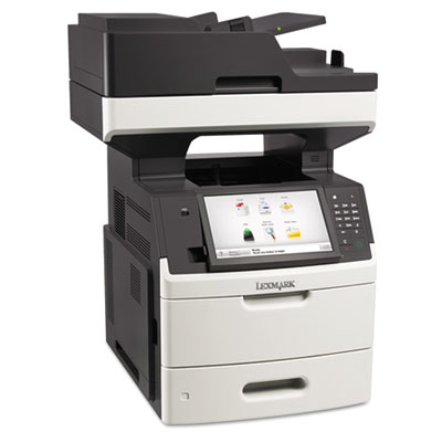 Mx711dhe multifunction laser printer, copy/fax/print/scan, sold as 1 each