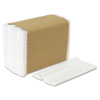 Tall fold dispenser napkins, 1-ply, 7 x 13 1/2, white, 10000/carton, sold as 1 carton, 10000 each per carton