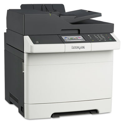 Cx410e multifunction color laser printer, copy/fax/print/scan, sold as 1 each