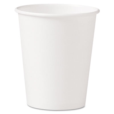 Polycoated hot paper cups, 10 oz, white, sold as 1 carton, 1000 each per carton