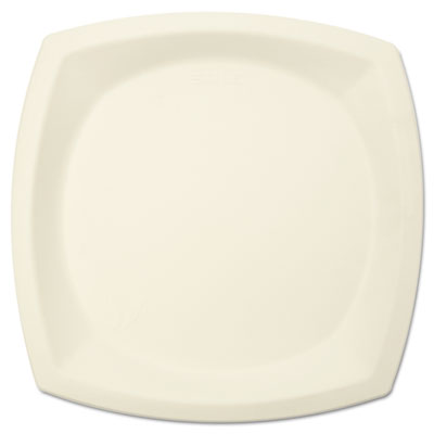 "Bare eco-forward sugarcane plate perfect pak, 10"" dia, ivory, 125/pk, sold as 1 package"