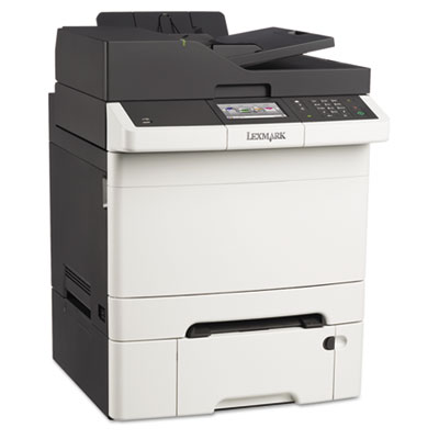 Cx410dte multifunction color laser printer, copy/fax/print/scan, sold as 1 each
