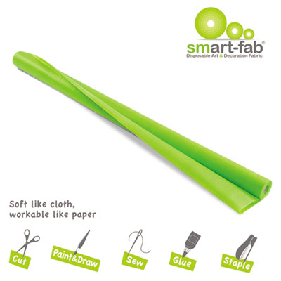 Smart fab disposable fabric, 48 x 40 roll, apple green, sold as 1 roll