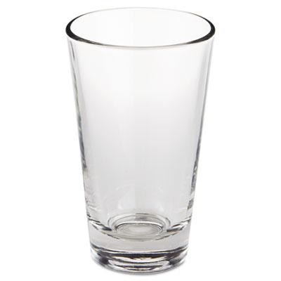 "Restaurant basics glass tumblers, cooler, 14 oz, 5 7/8"" tall, sold as 1 carton, 24 each per carton"