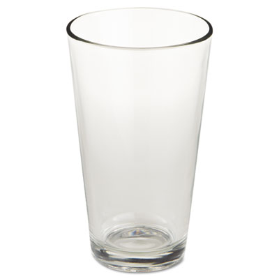 "Restaurant basics glass tumblers, mixing glass, 16oz, 5 7/8"" tall, 24/carton, sold as 1 carton, 24 each per carton"